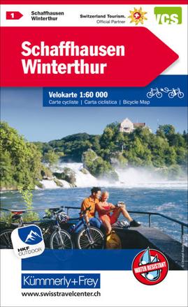 Bild zu Schaffhausen - Winterthur Nr. 01 Velokarte 1:60 000. 1:60'000 von Hallwag Kümmerly+Frey AG (Hrsg.)