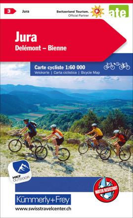 Bild zu Jura Delémont Biel-Bienne Nr. 03 Velokarte 1:60 000. 1:60'000 von Hallwag Kümmerly+Frey AG (Hrsg.)