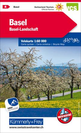 Bild zu Basel, Basel-Landschaft Velokarte Nr. 4. 1:60'000 von Hallwag Kümmerly+Frey AG