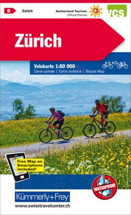 Bild zu Zürich Nr. 06 Velokarte 1:60 000. 1:60'000 von Hallwag Kümmerly+Frey AG (Hrsg.)