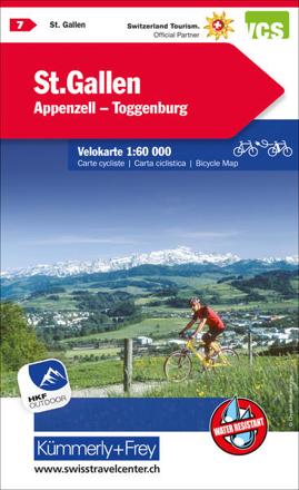 Bild zu St. Gallen Appenzell Toggenburg Nr. 07 Velokarte 1:60 000. 1:60'000 von Hallwag Kümmerly+Frey AG (Hrsg.)