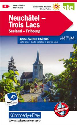 Bild zu Neuchâtel Trois Lacs Nr. 08 Velokarte 1:60 000. 1:60'000 von Hallwag Kümmerly+Frey AG (Hrsg.)