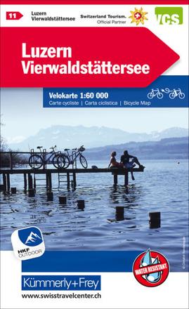 Bild zu Luzern Vierwaldstättersee Nr. 11 Velokarte 1:60 000. 1:60'000 von Hallwag Kümmerly+Frey AG (Hrsg.)