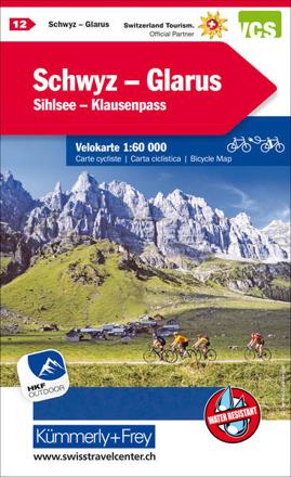 Bild zu Schwyz - Glarus - Shilsee - Klausenpass Nr. 12 Velokarte 1:60 000. 1:60'000 von Hallwag Kümmerly+Frey AG (Hrsg.)