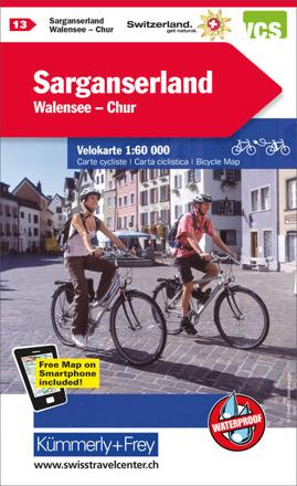 Bild zu Sarganserland - Walensee - Chur Nr. 13 Velokarte 1:60 000. 1:60'000 von Hallwag Kümmerly+Frey AG (Hrsg.)