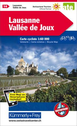Bild zu Lausanne-Vallée de Joux Nr. 14 Velokarte 1:60 000. 1:60'000 von Hallwag Kümmerly+Frey AG (Hrsg.)