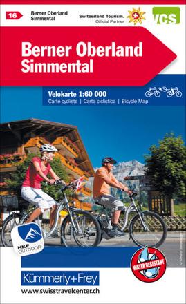 Bild von Berner Oberland, Simmental Velokarte Nr. 16. 1:60'000 von Hallwag Kümmerly+Frey AG (Hrsg.)