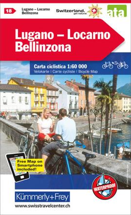 Bild zu Lugano - Locarno - Bellinzona Nr. 18 Velokarte 1:60 000. 1:60'000 von Hallwag Kümmerly+Frey AG (Hrsg.)