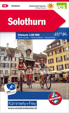 Bild zu Solothurn Nr. 19 Velokarte 1:60 000. 1:60'000 von Hallwag Kümmerly+Frey AG (Hrsg.)