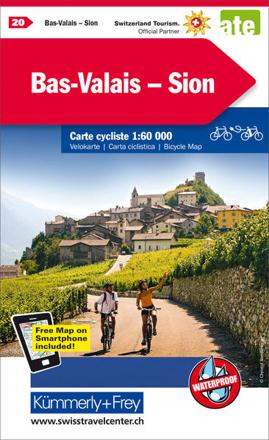 Bild zu Bas-Valais - Sion Nr. 20 Velokarte 1:60 000. 1:60'000 von Hallwag Kümmerly+Frey AG (Hrsg.)