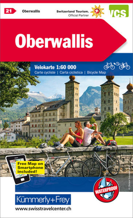 Bild zu Oberwallis Nr. 21 Velokarte 1:60 000. 1:60'000 von Hallwag Kümmerly+Frey AG (Hrsg.)