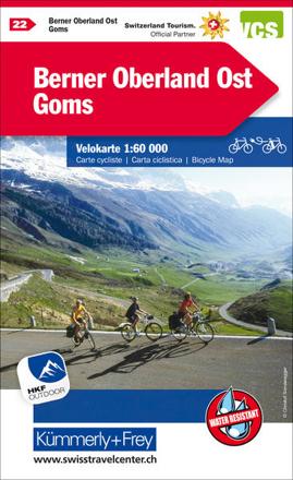 Bild zu Berner Oberland Ost - Goms Velokarte Nr. 22. 1:60'000 von Hallwag Kümmerly+Frey AG (Hrsg.)