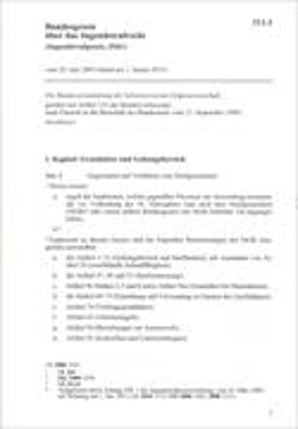 Bild zu Bundesgesetz über das Jugendstrafrecht (Jugendstrafgesetz, JStG)