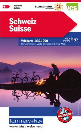 Bild zu Schweiz Velokarte 1:301 000. 1:301'000 von Hallwag Kümmerly+Frey AG (Hrsg.)