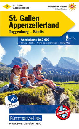 Bild zu St. Gallen - Appenzellerland Nr. 07 Wanderkarte 1:60 000. 1:60'000 von Hallwag Kümmerly+Frey AG (Hrsg.)