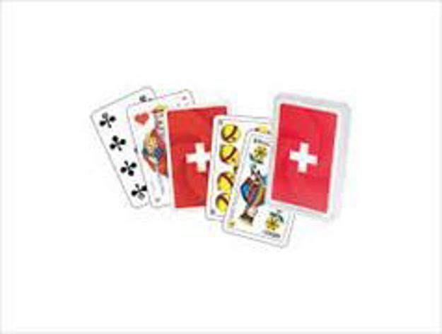Bild zu Schweizer Kreuz Jasskarten Plastikbox