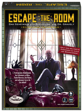 Bild zu ThinkFun - 76310 - Escape the Room: Das Geheimnis des Refugiums von Dr. Gravely. Könnt ihr alle Geheimnise und Rätsel lösen? Ein Escape-Spiel für Einsteiger