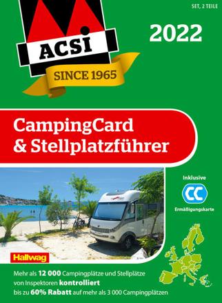 Bild zu ACSI CampingCard & Stellplatzführer 2022 von ACSI