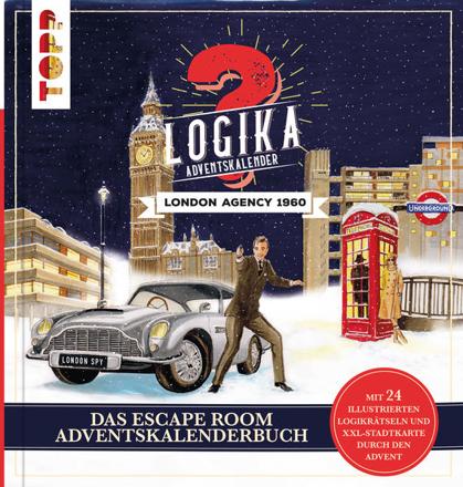 Bild zu Logika Adventskalenderbuch - London Agency 1960: Mit 24 illustrierten Logikrätsel durch den Advent von Bergsträsser, Linnéa