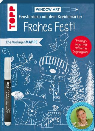 Bild zu Vorlagenmappe Fensterdeko mit dem Kreidemarker - Frohes Fest! inkl. Original Kreidemarker von Kreul von Pedevilla, Pia